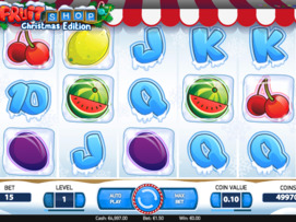 Play free Fruit Shop Christmas Edition slot by Microgaming