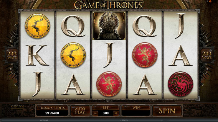 Play free Game Of Thrones slot by Microgaming