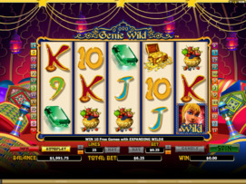 Play free Genie Wild slot by Microgaming