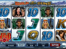 Play free Girls With Guns Frozen Dawn slot by Microgaming