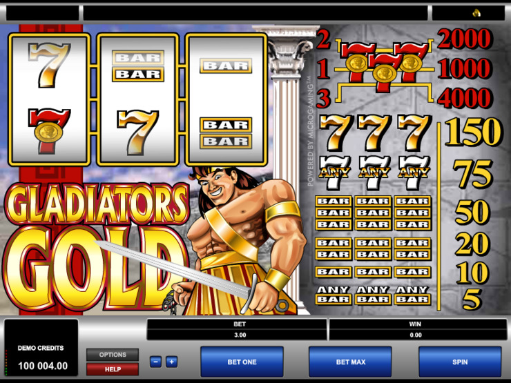 Play free Gladiator slot by Microgaming