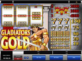 Play free Gladiators Gold slot by Microgaming