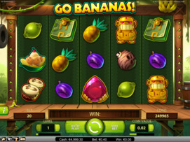 Play free Go Bananas! slot by NetEnt