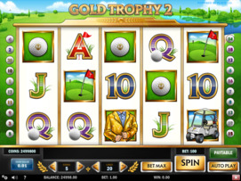 Play free Gold Trophy 2 slot by Play'n GO