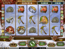 Play free Hall of Gods slot by NetEnt