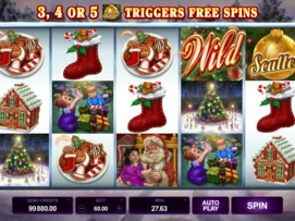Play free Happy Holidays slot by Microgaming