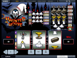 Play free Haunted House slot by Microgaming