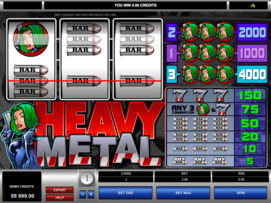 Play free Heavy Metal slot by Microgaming