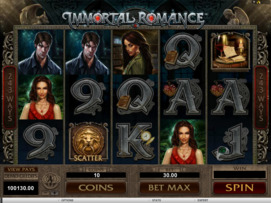 Play free Immortal Romance slot by Microgaming