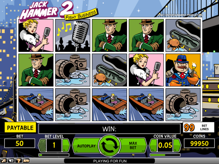 Play free Jack Hammer 2 slot by NetEnt