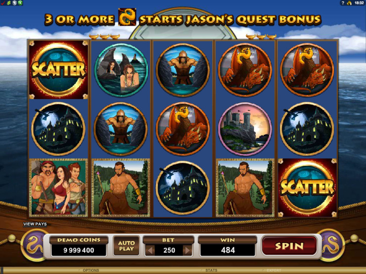 Play free Jason and the Golden Fleece slot by Microgaming