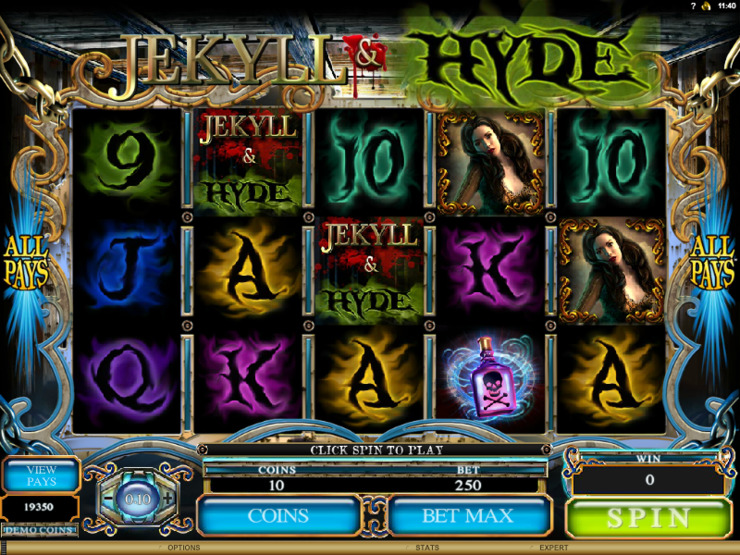 Play free Jekyll and Hyde slot by Microgaming