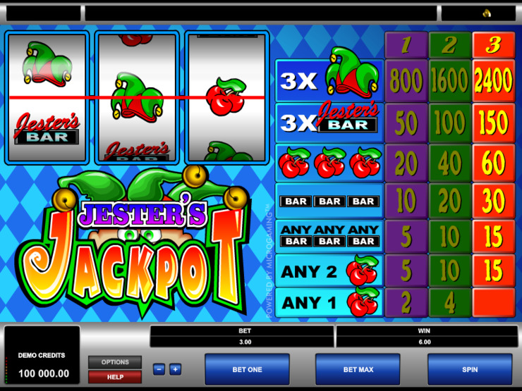 Play free Jesters Jackpot slot by Microgaming