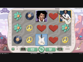 Play Free Jimi Hendrix Slot by NetEnt