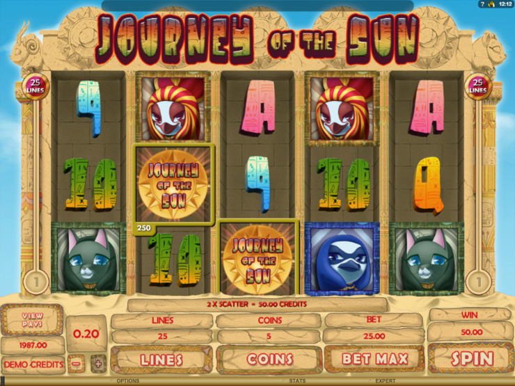Play free Journey of the Sun slot by Microgaming