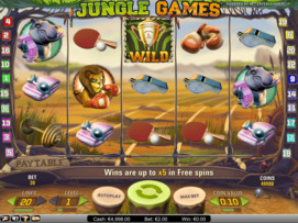 Play free Jungle Games slot by NetEnt
