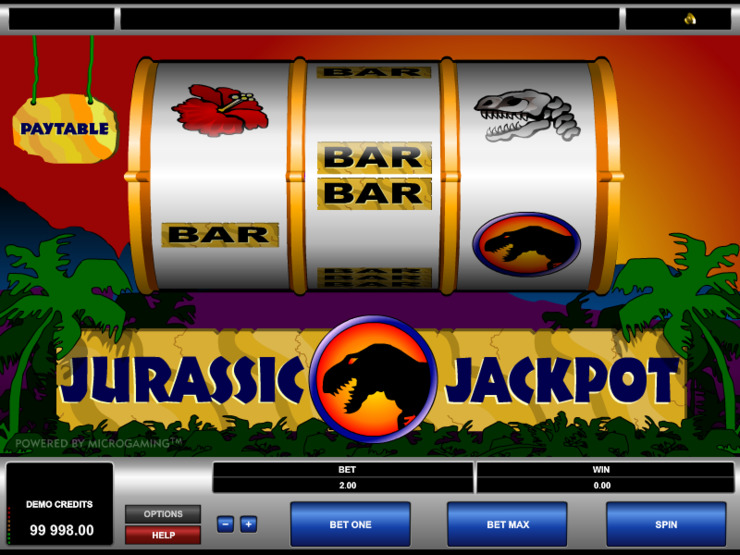 Play free Jurassic Jackpot slot by Microgaming