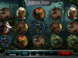 Play free Jurassic Park slot by Microgaming