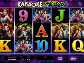 Play free Karaoke Party slot by Microgaming