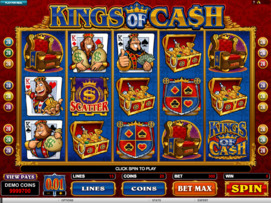 Play free Kings of Cash slot by Microgaming