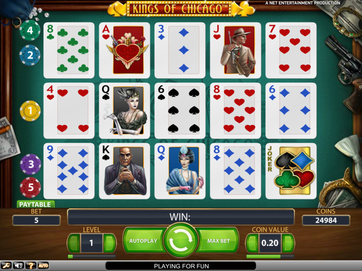 Play free Kings of Chicago slot by NetEnt