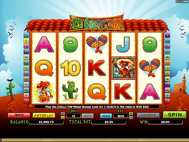 Play free La Cucaracha slot by Microgaming