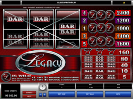 Play free Legacy slot by Microgaming