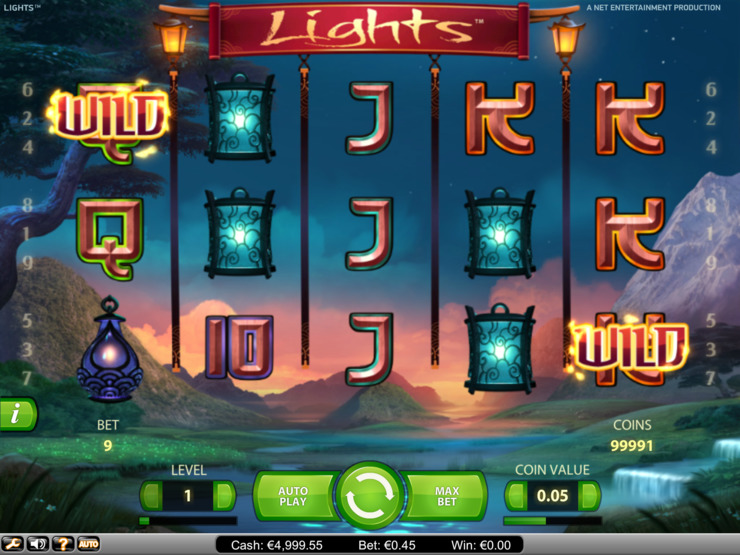 Play free Lights slot by NetEnt