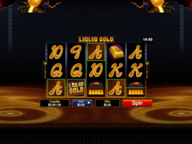 Play free Liquid Gold slot by Microgaming