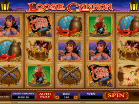 Play free Loose Cannon slot by Microgaming