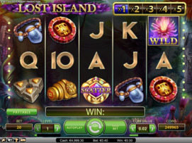 Play free Lost Island slot by NetEnt