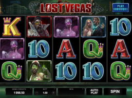 Play free Lost Vegas slot by Microgaming