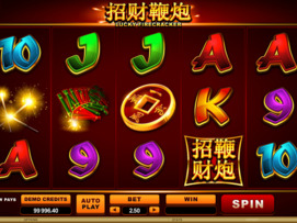 Play free Lucky Firecracker slot by Microgaming