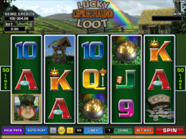 Play free Lucky Leprechaun slot by Microgaming
