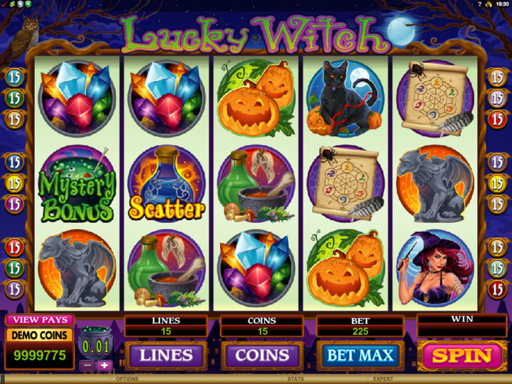 Play free Lucky Witch slot by Microgaming