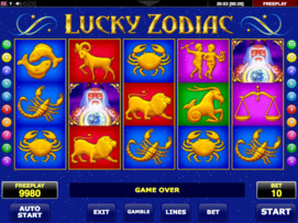 Play free Lucky Zodiac slot by Microgaming
