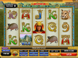 Play free Machu Picchu slot by Microgaming