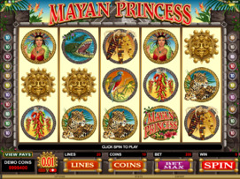 Play free Mayan Princess slot by Microgaming