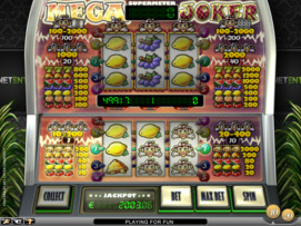 Play free Mega Joker slot by NetEnt