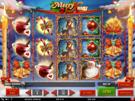 Play free Merry Xmas slot by Play'n GO