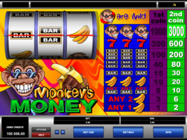 Play free Monkeys Money slot by Microgaming