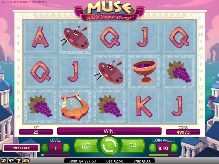 Play free Muse Wild Inspiration slot by NetEnt