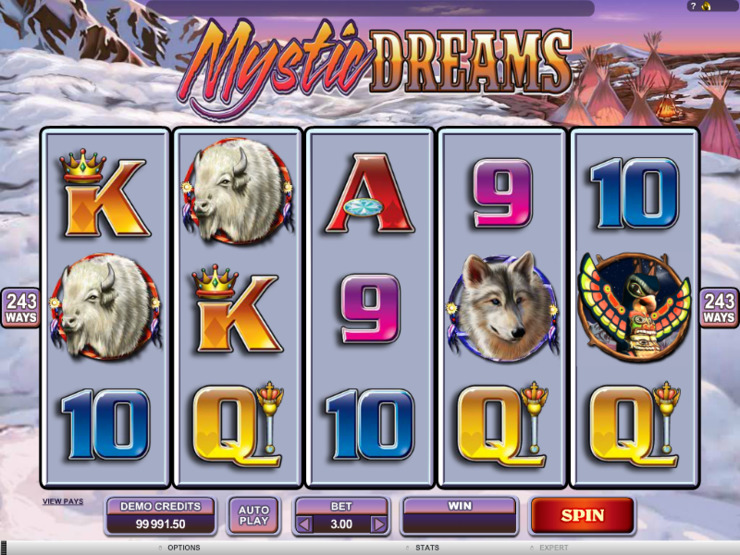 Play free Mystic Dreams slot by Microgaming