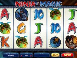 Play free Ninja Magic slot by Microgaming