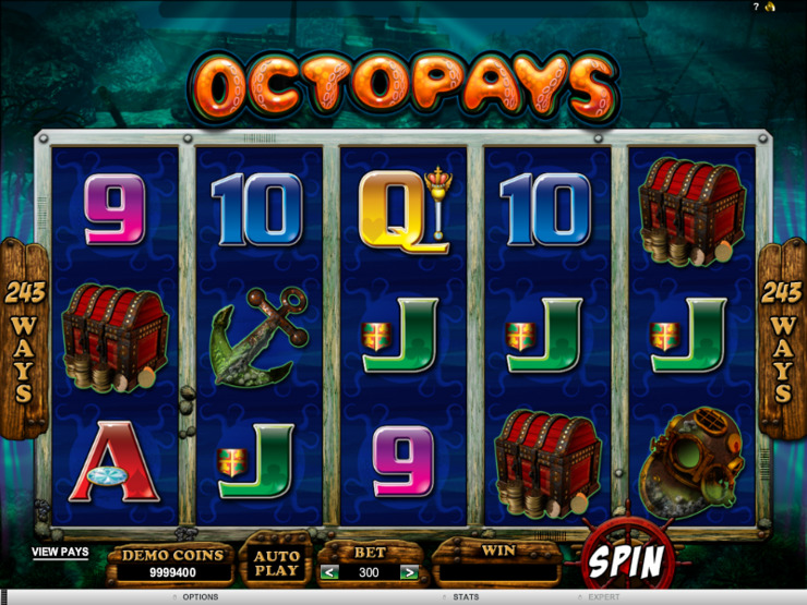 Play free Octopays slot by Microgaming