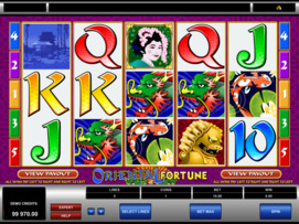 Play free Oriental Fortune slot by Microgaming