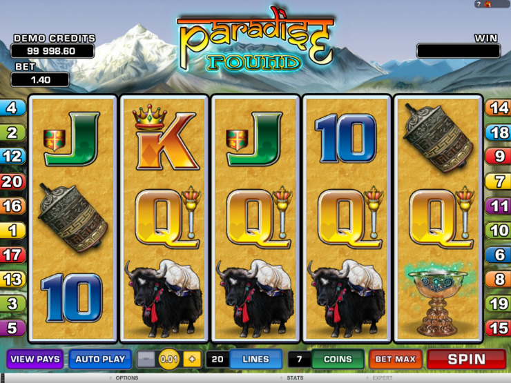 Play free Paradise Found slot by Microgaming