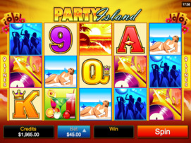 Play free Party Island slot by Microgaming