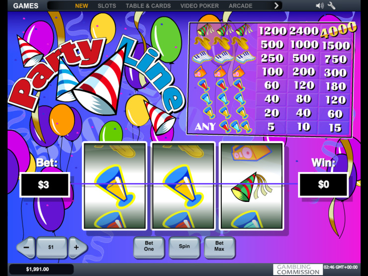 Play free Party Line slot by Microgaming