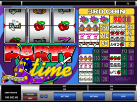 Play free Party Time slot by Microgaming